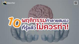 10 พฤติกรรมทำลายสมอง ที่รู้แล้วไม่ควรทำ!